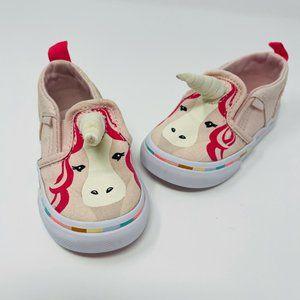 Vans Unicorn Horn Slip Ons Pink Size 4.5
